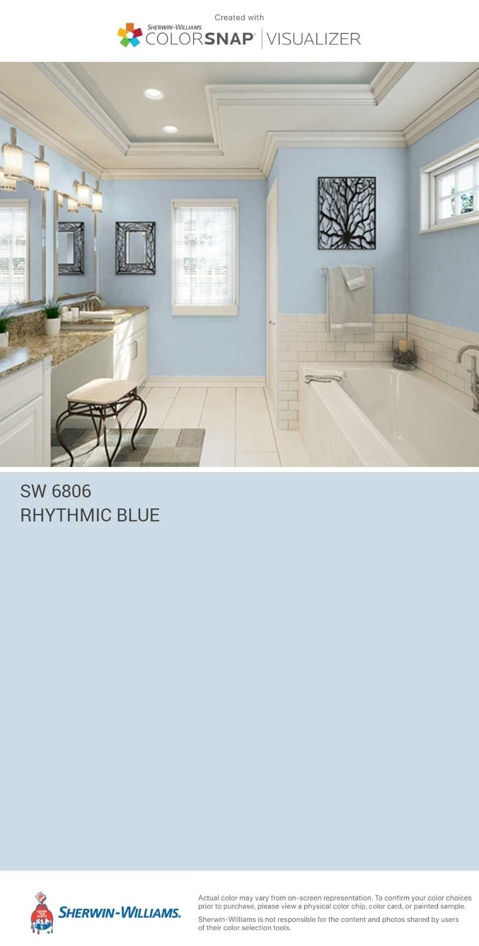 Sherwin Williams Rythmic Blue With Images Small Bathroom
