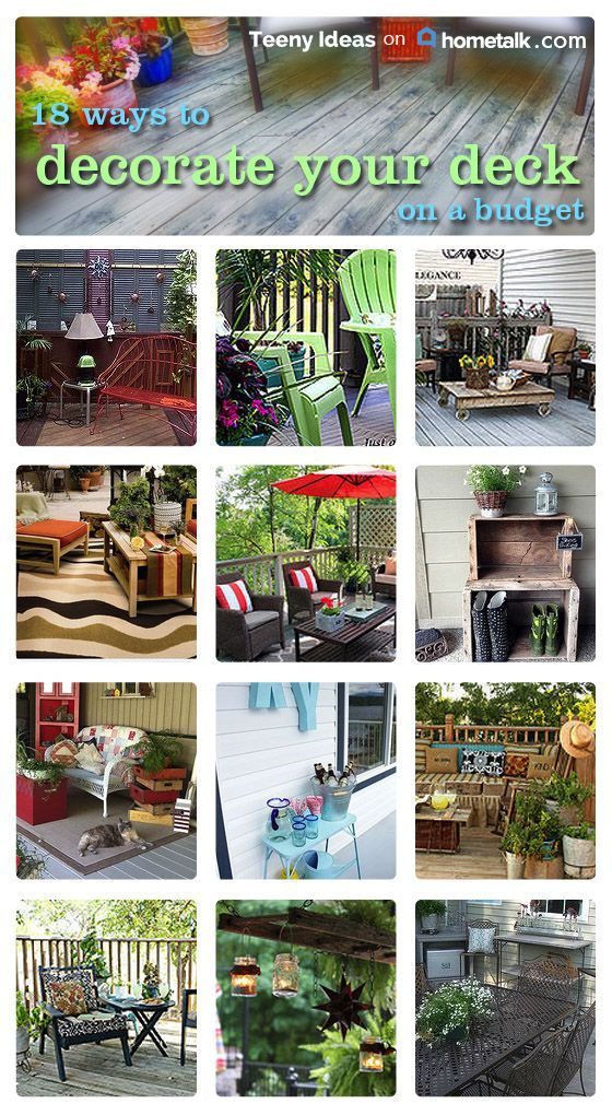 Deck Orating On A Budget Kristine Teeny Ideas S Clipboard On Hometalk Deck Decorating Backyard Decks Backyard