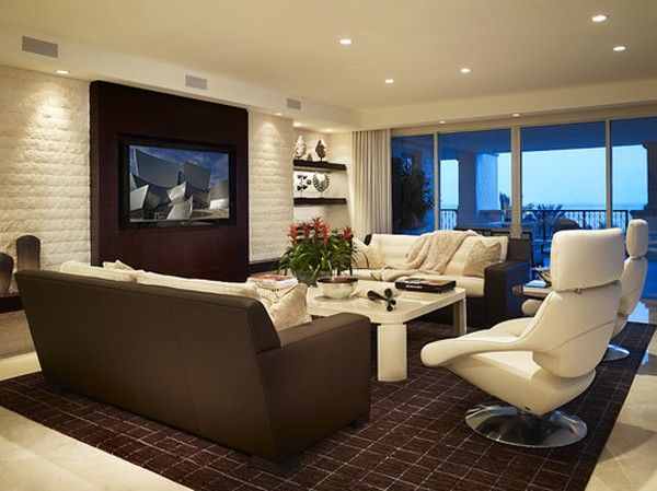 ideas of wallmounted tv in living room