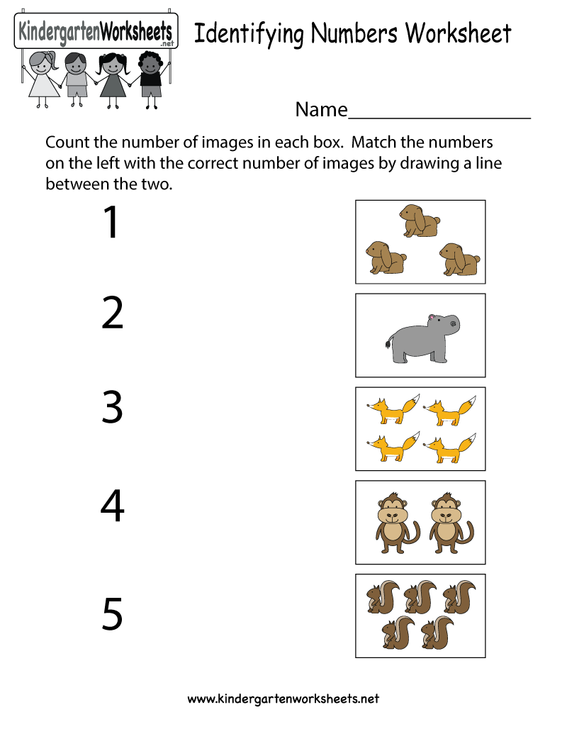 Fun Animal Numbers Worksheet For Preschool And Kindergarten Kids