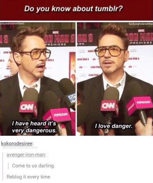 RDJ and tumblr