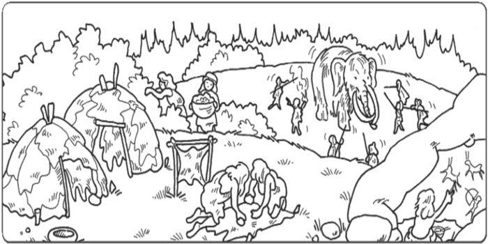 Disegni da colorare uomini preistorici cerca con google for Disegnare la mia planimetria