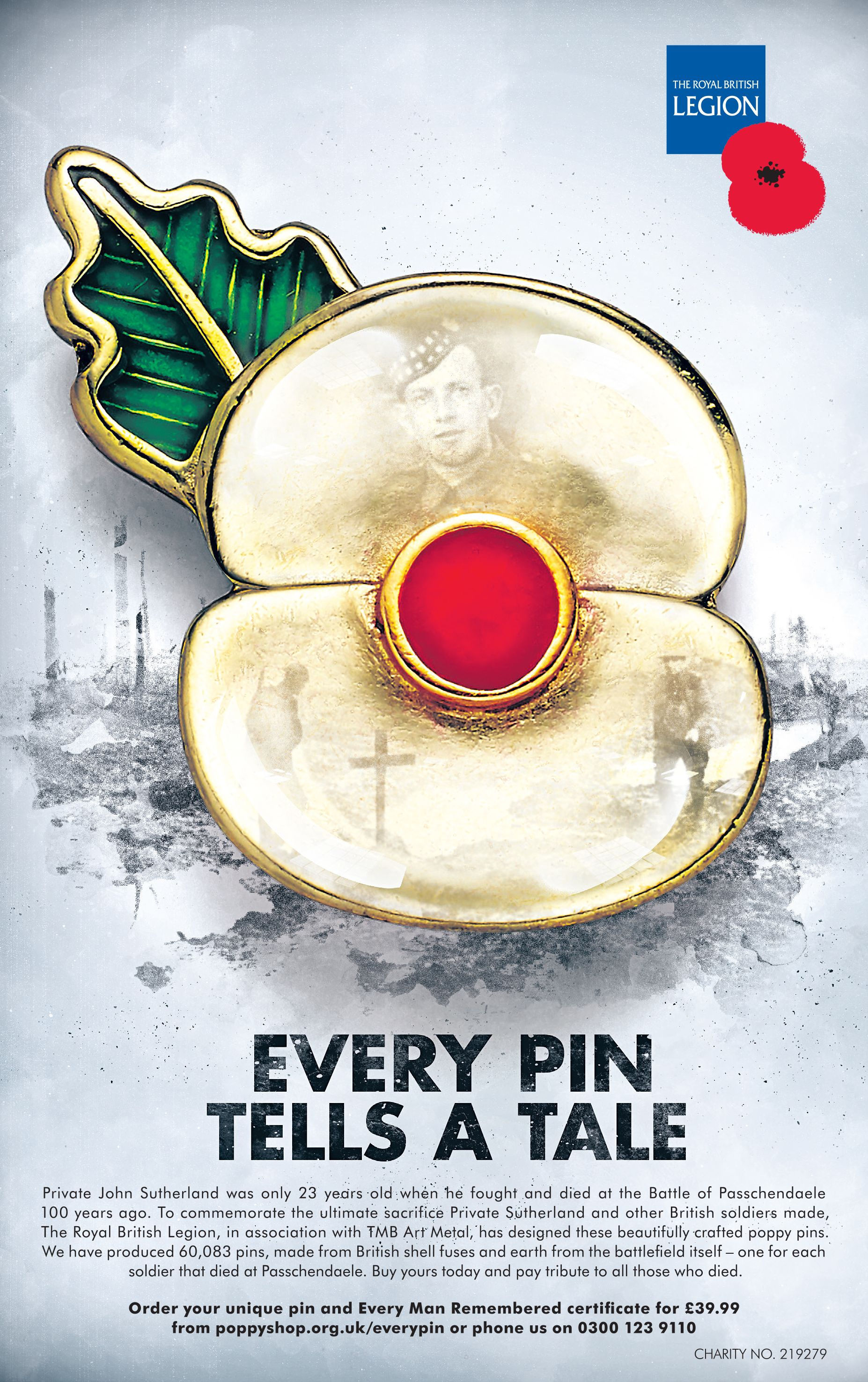 'Every Pin Tells a Tale' for Royal British Legion (With