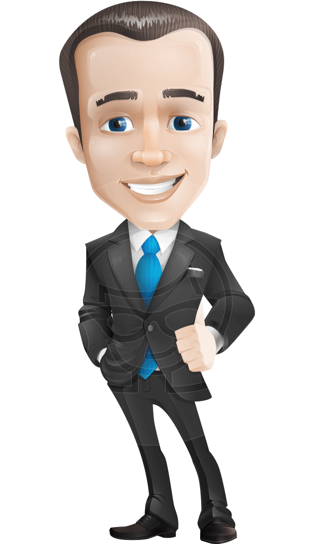 Jim the Business Icon: A business cartoon character with ...