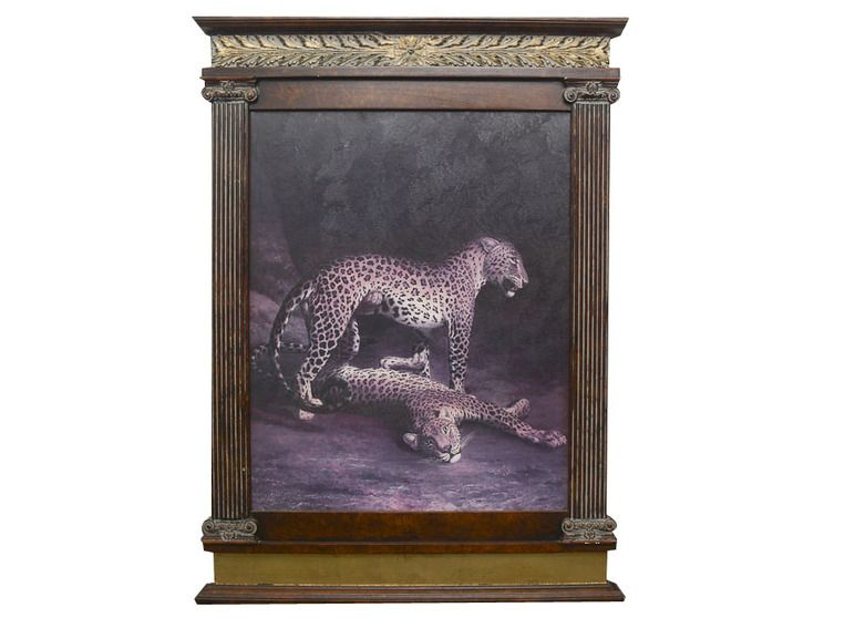 "Print of Jacques-Laurent Agasse's ""Two Leopards Playing"""