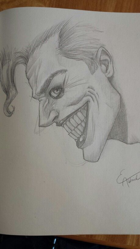 The Joker Drawing By Me Everettaldrich