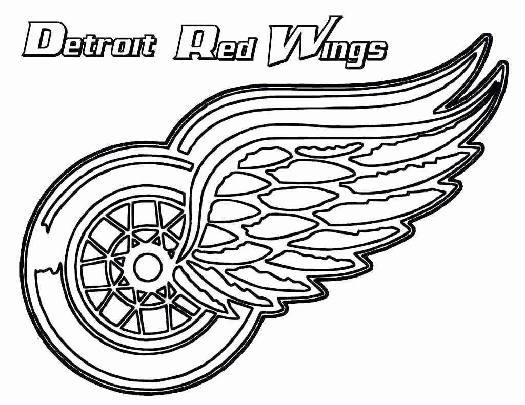 College Logo Coloring Pages In 2020 Red Wings Hockey Detroit