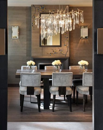 90 Stunning Dining Rooms With Chandeliers Pictures: Pin By Natalia On All Things Grey And Beautiful