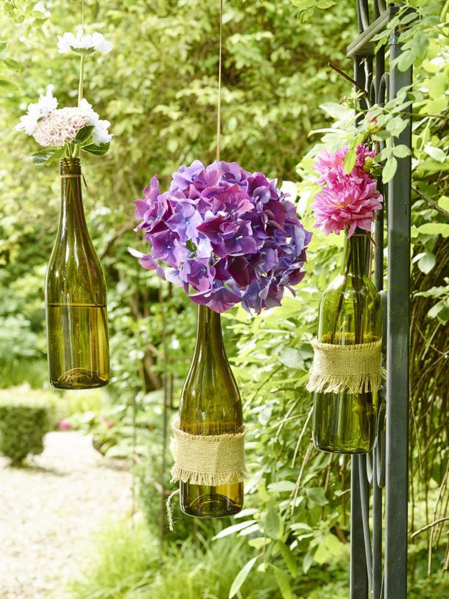 deko-ideen fürs kleine weinfest im garten | weinfest, deko basteln, Gartengerate ideen