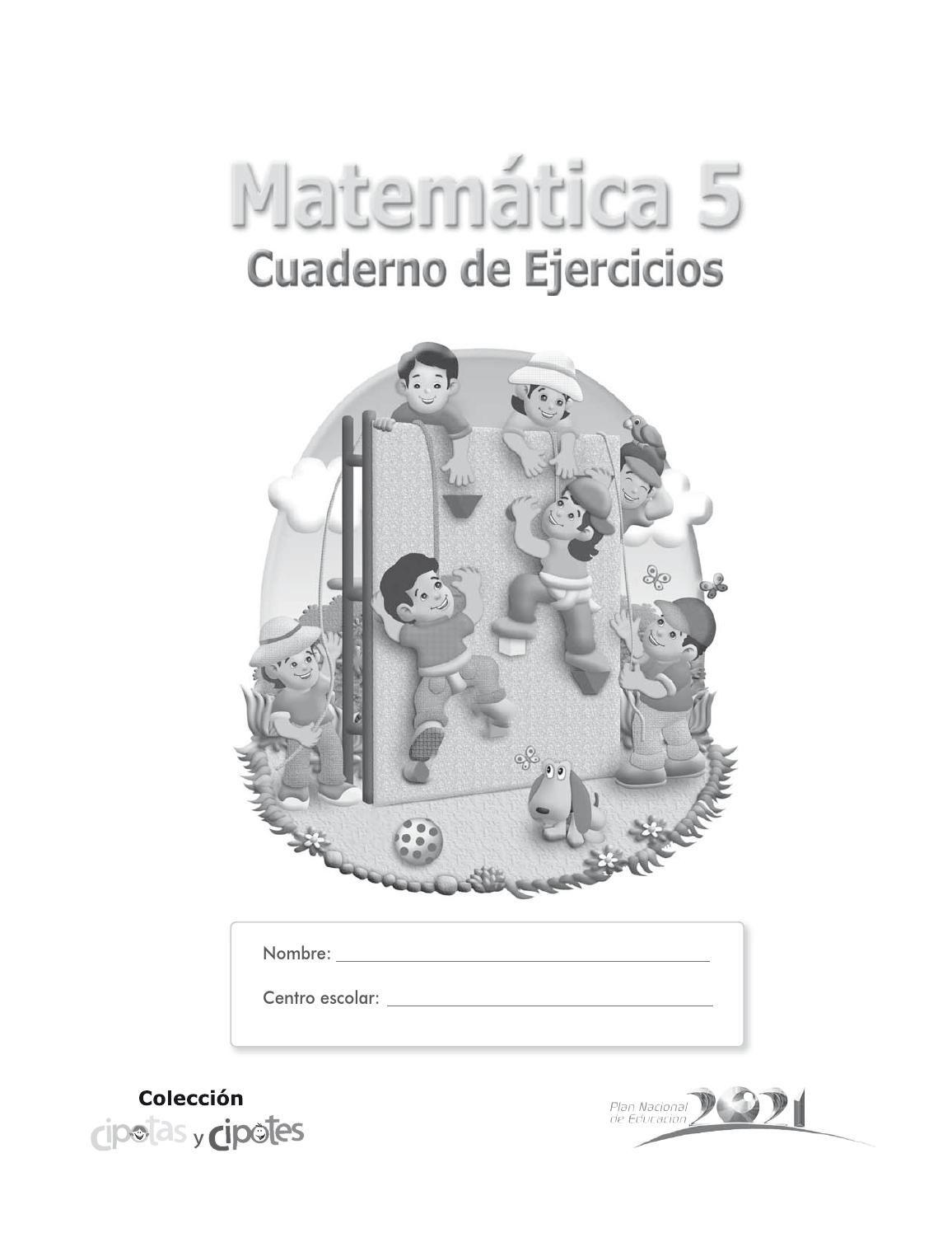 Cuaderno de Ejercicios 5 matematica   Pinterest   Comunidad ...