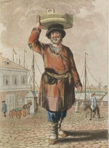 Le Marchand de Poissons - Christian Schonberg (1770-1844) - Musée de l'Hermitage