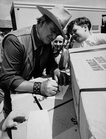 Image result for john wayne signing autograph