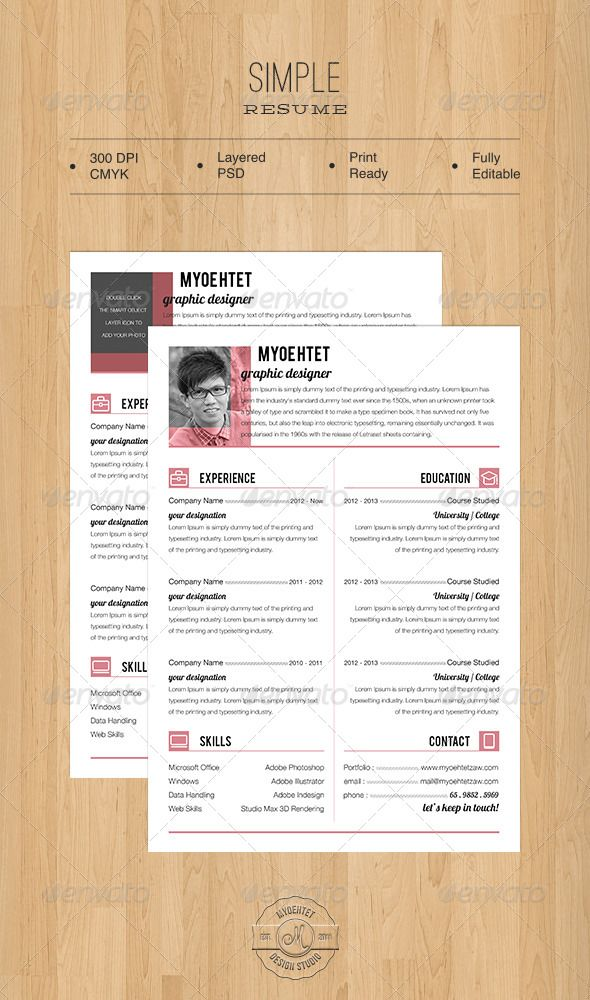 Simple Resume Pinterest Simple resume - simple resume examples for college students