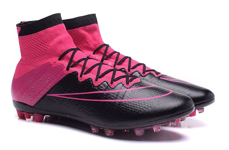 nike mercurial superfly leather ag black pink football boots uk sale