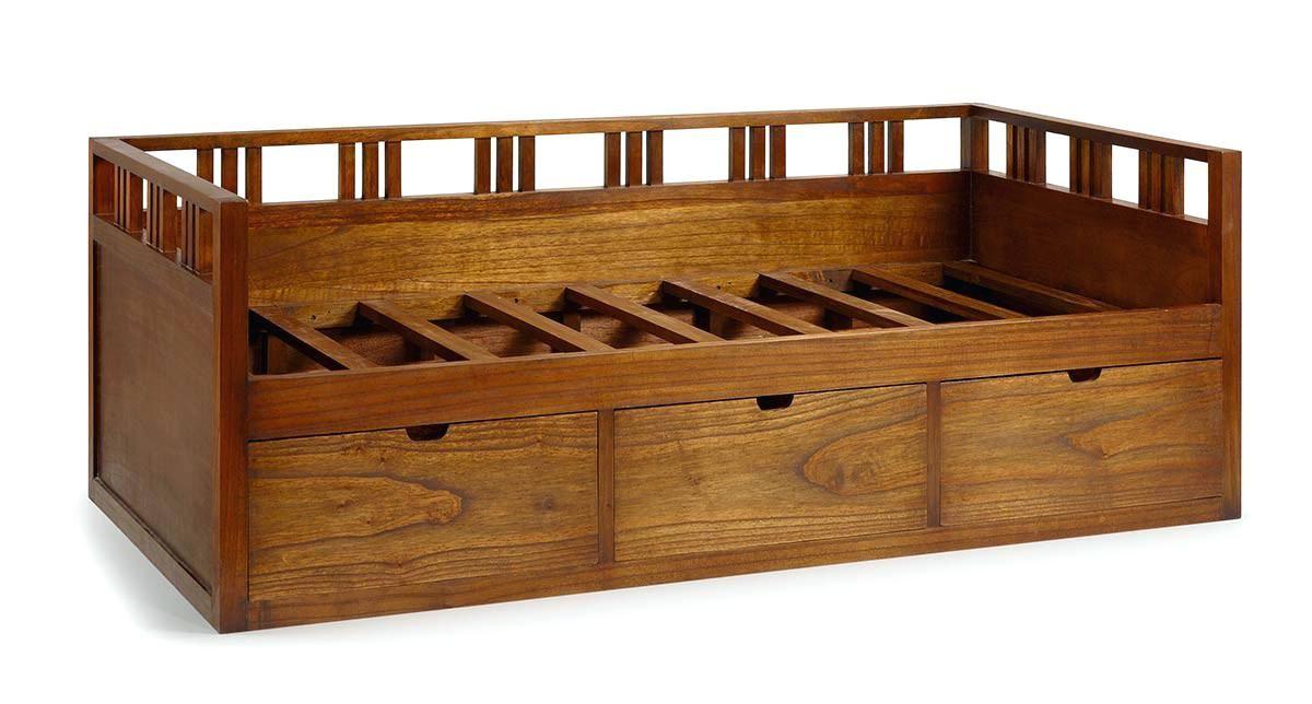 coffre sous lit lit 1 personne en bois de mindy 3 tiroirs. Black Bedroom Furniture Sets. Home Design Ideas