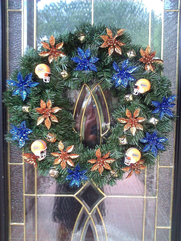 Florida christmas ornament - University Of Florida Gators Christmas Wreath 24