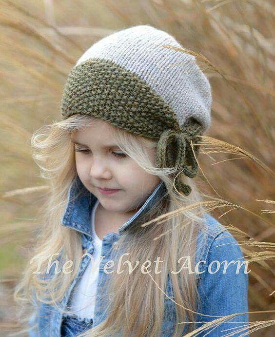 Ideias de toucas para crianças #tricot #knitting #kids | Hat ...