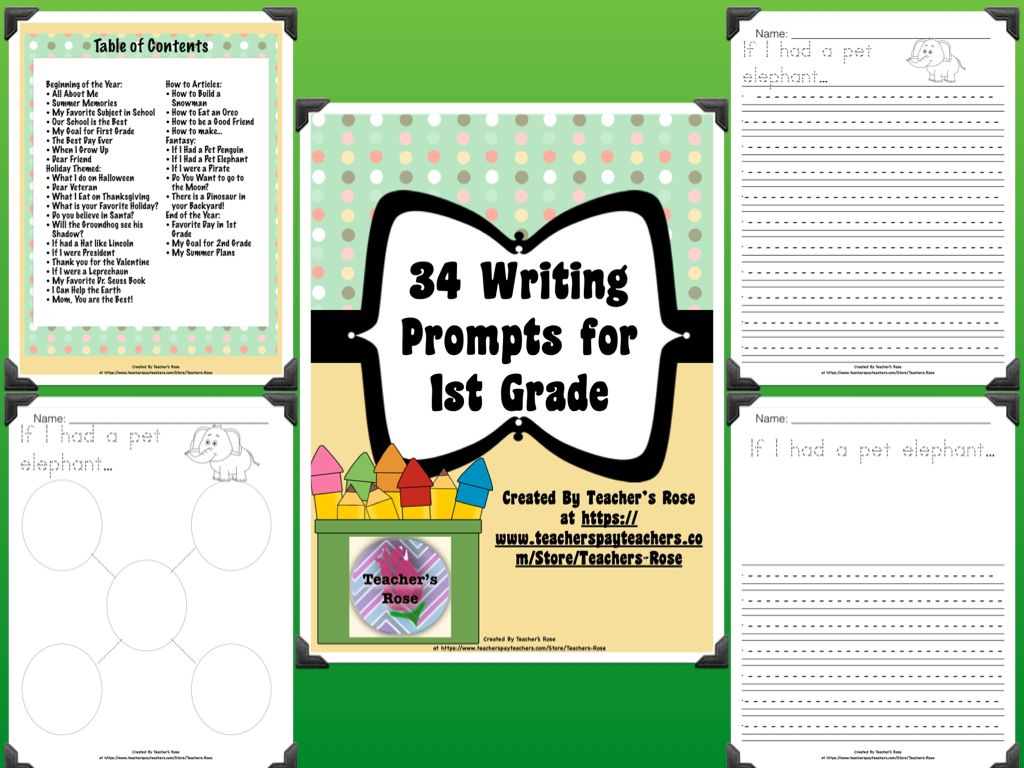 Writing Prompts For First Grade