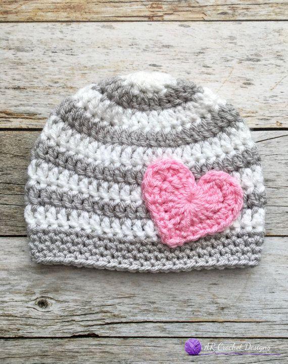 8649d0c892f Valentine s Day Crochet Hat   Heart Hat   by ARCrochetDesigns ...