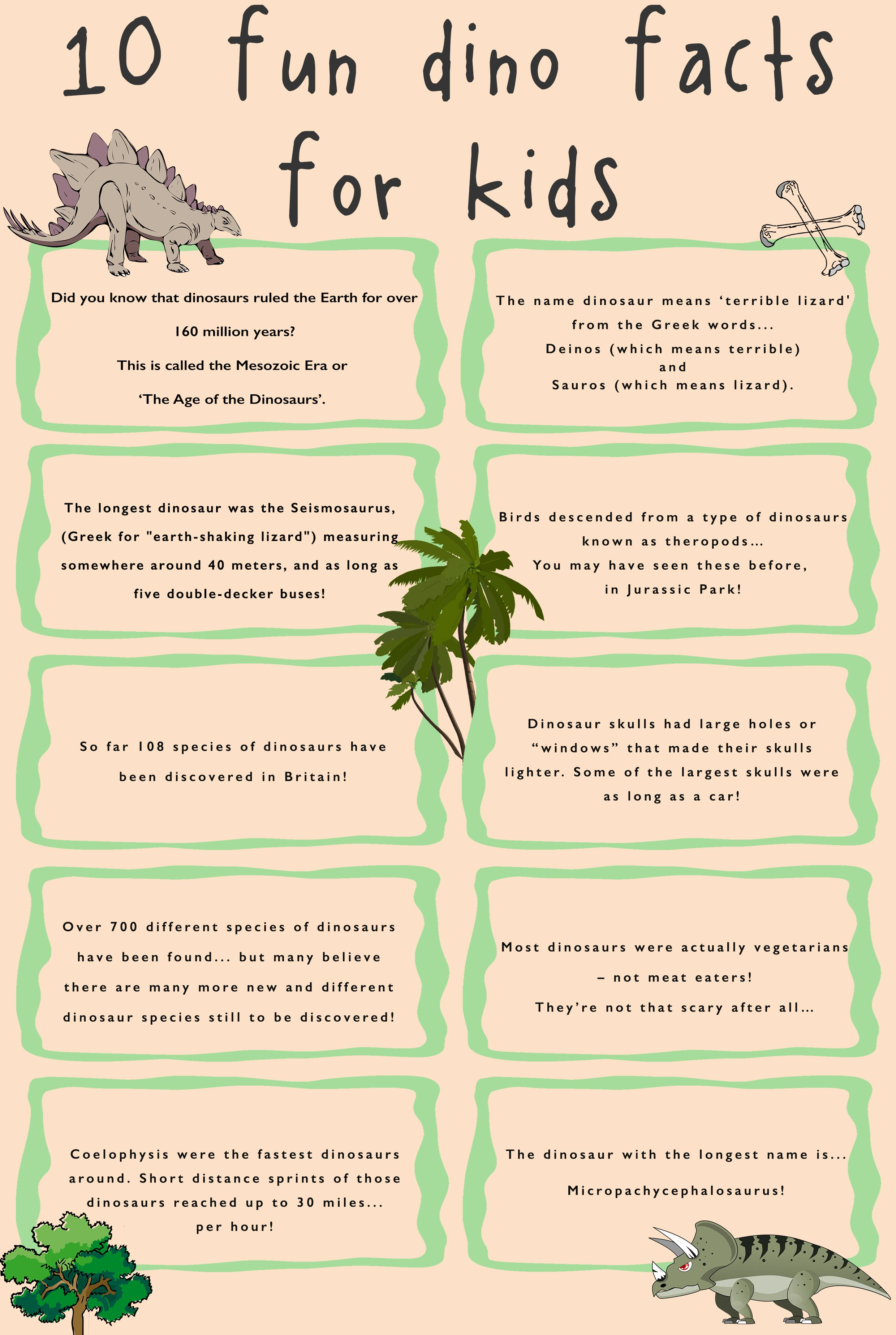 Check Out Our 10 Favourite Fun Dino Facts For Kids Dino Madness