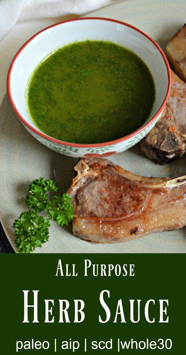 All Purpose Herb Sauce (Paleo, AIP, SCD, Vegan) Recipe