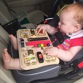 Los gatos ocupados Junta de actividad tablero juguetes Montessori juguetes de madera tabla sensorial ocupada libro de la Junta del niño juguete bebé regalos...