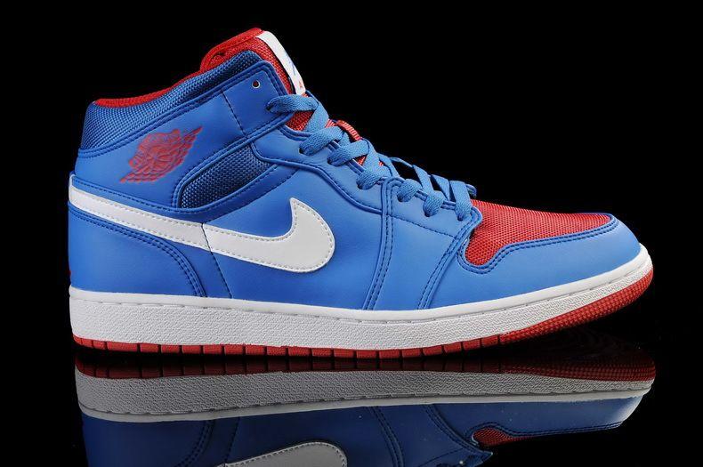 Chaussures Nike Air Jordan 1 Bleu | Chaussures Nike Air Jordan 1 |  Pinterest | Nike air jordans