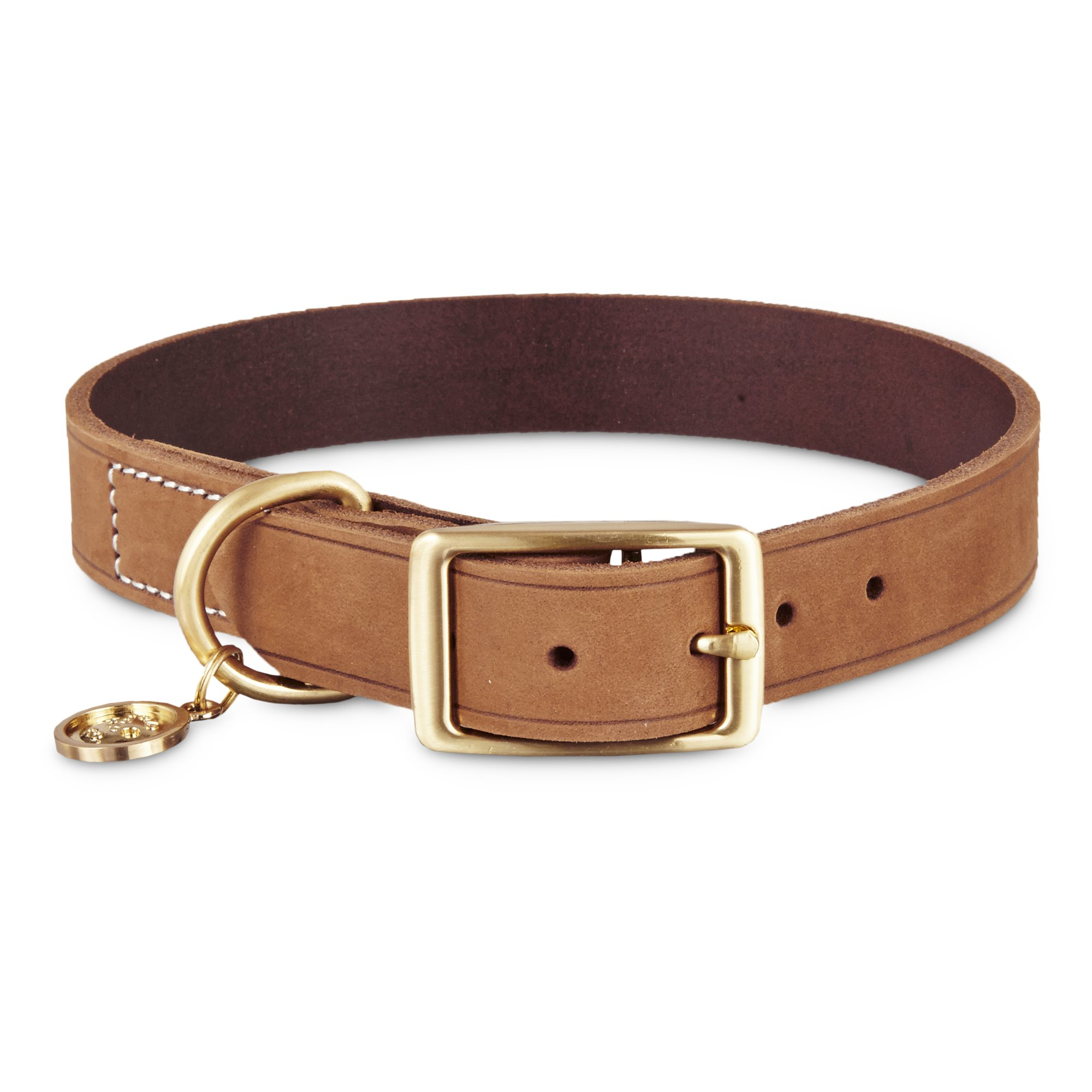 Bond Amp Co Copper Suede Dog Collar X Small Small Dog