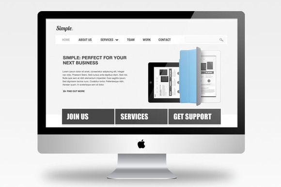 Vectorized Imac Psd Web Design Website Design Free Psd Mockups Templates