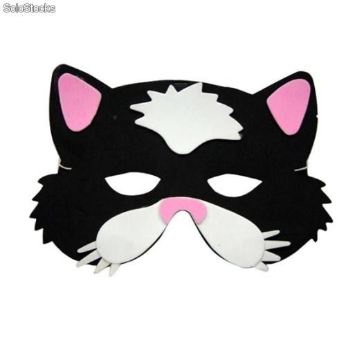 Como Hacer La Mascara De Un Gato En Foami Imagui Heart Sunglass Mask Sleep Eye Mask