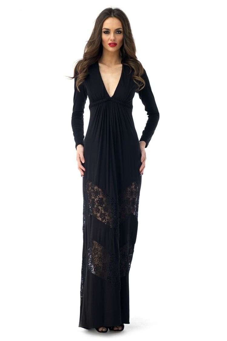 This beautiful maxi dress is perfect for a night out. Show off ...