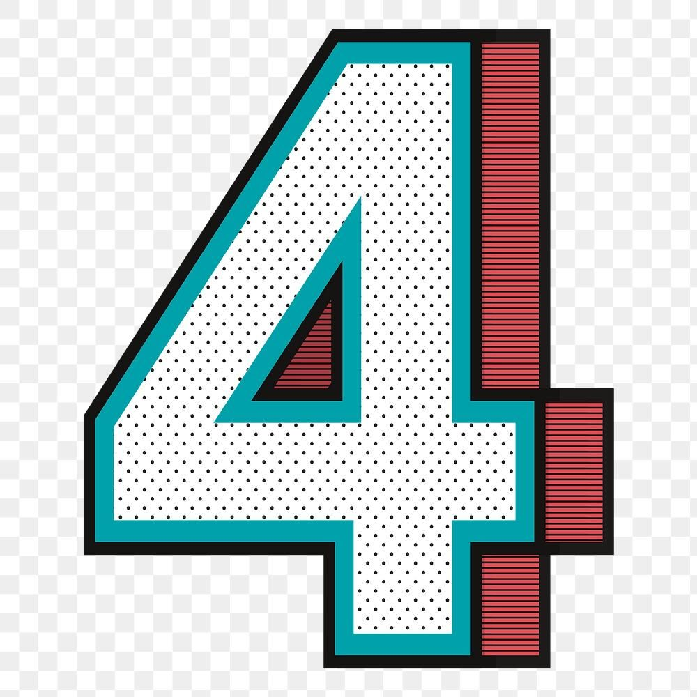 3d Number 4 Png Isometric Halftone Style Typography Free Image By Rawpixel Com Wan Typography Halftone Isometric