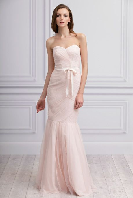 Beautiful Blushing Bridesmaids Gowns