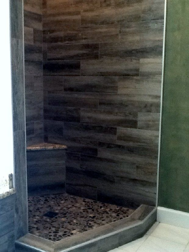 Dark Wood Shower Walls So Unique Rustic Bathrooms Shower Wall Bathroom Remodel Master
