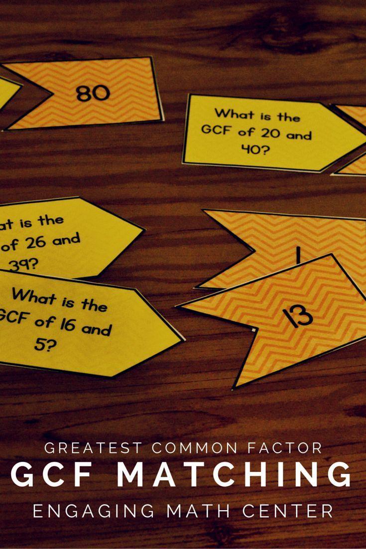 GCF Center Lcm, gcf, Sixth grade math, Math