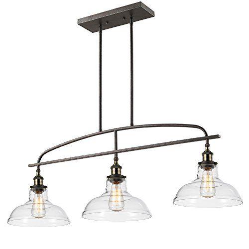 Ecopower Kitchen Linear Island Pendant Light Vintage Lamp Chandelier  3  Lights Return Policy: All