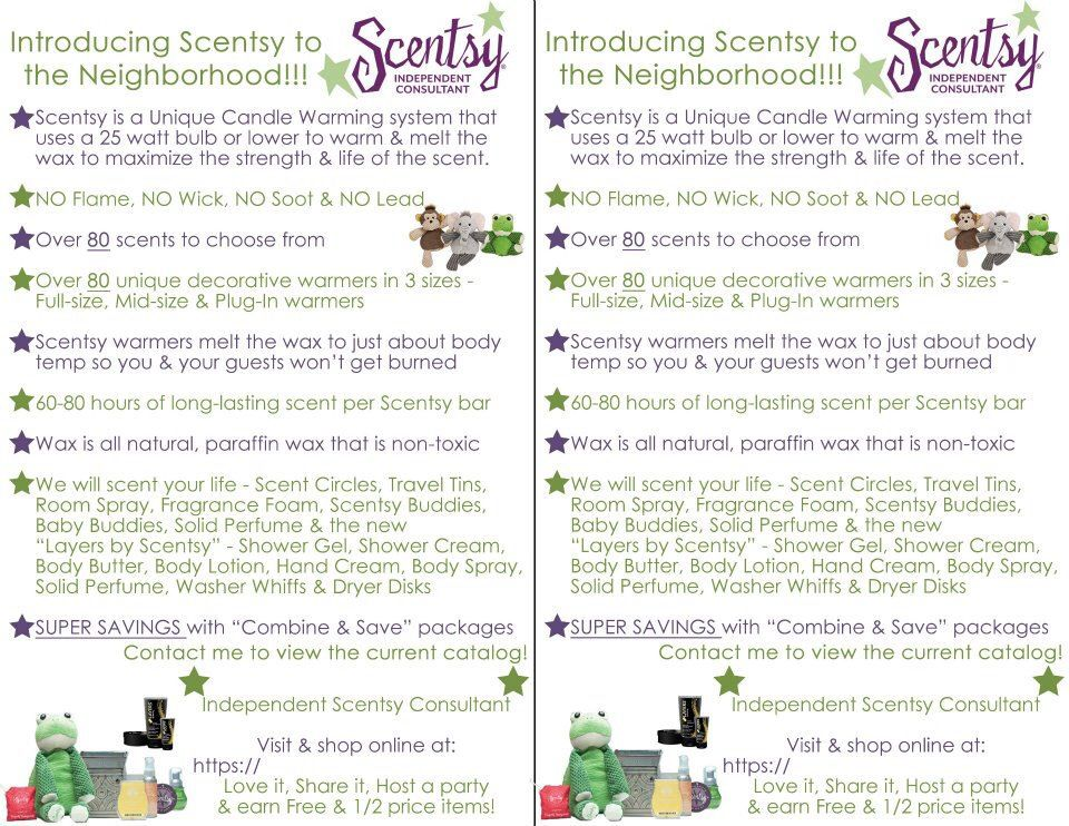 scentsy flyer template