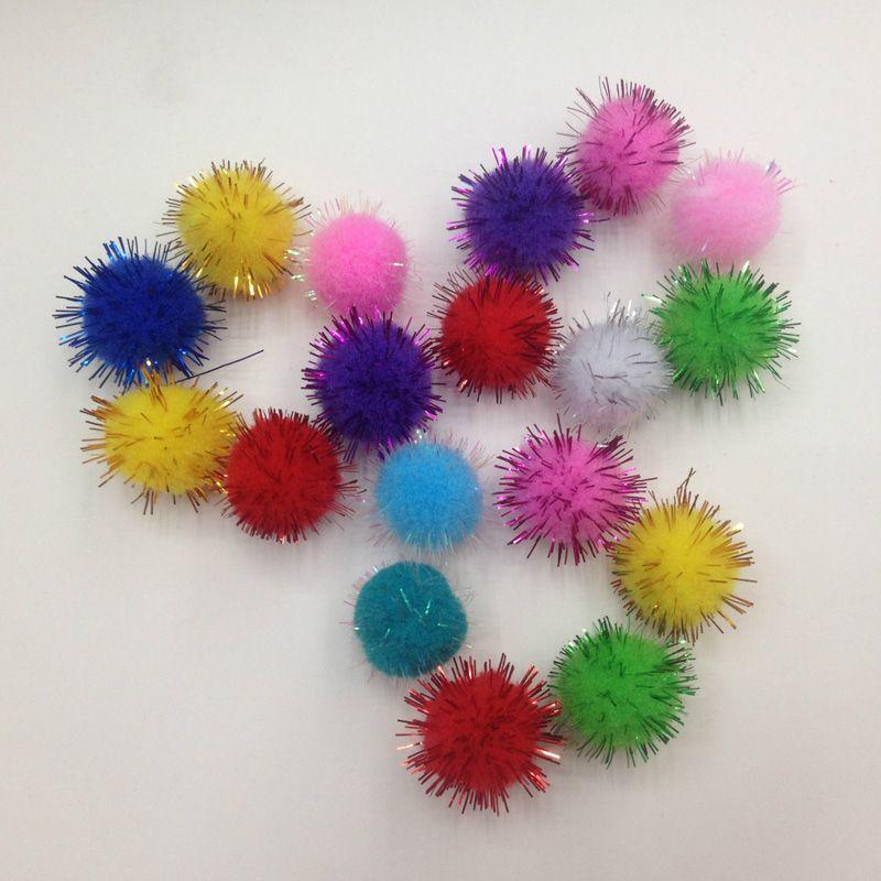 10-30mm Fluffy Craft PomPoms Balls Pom Poms Tinsel Festive Party Wedding Ball Decoration Supplies Decorative Flowers 20g #ThanksgivingCrafts