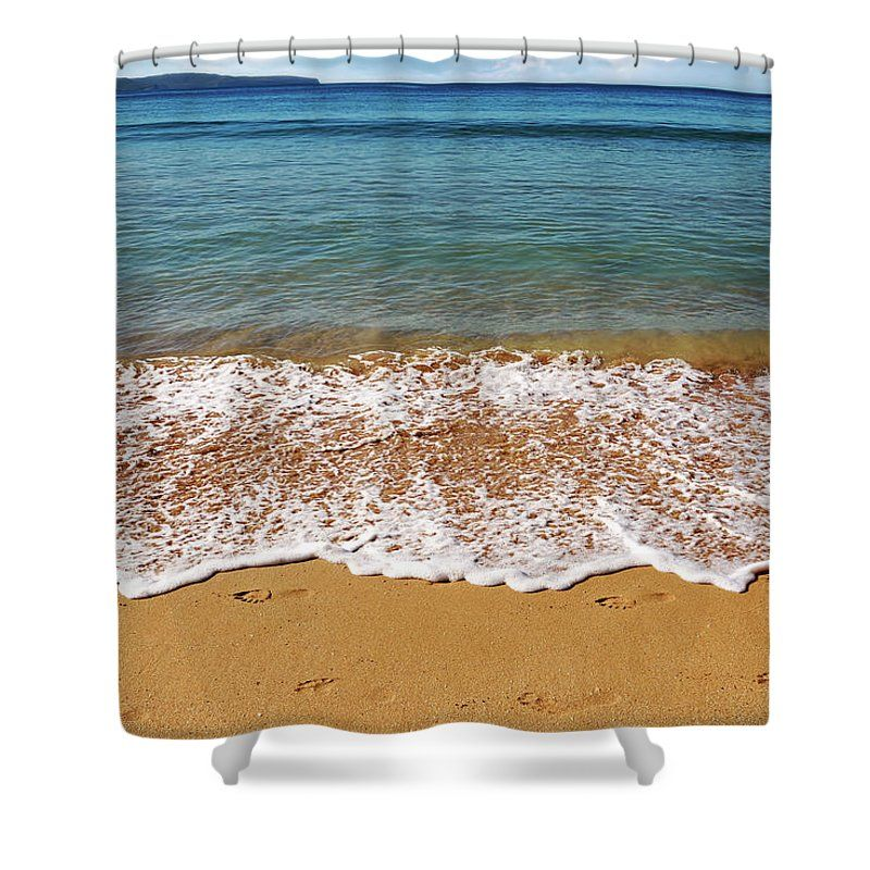 Photography Shower Curtain featuring the photograph Palm Beach Tranquility By Kaye Menner by Kaye Menner