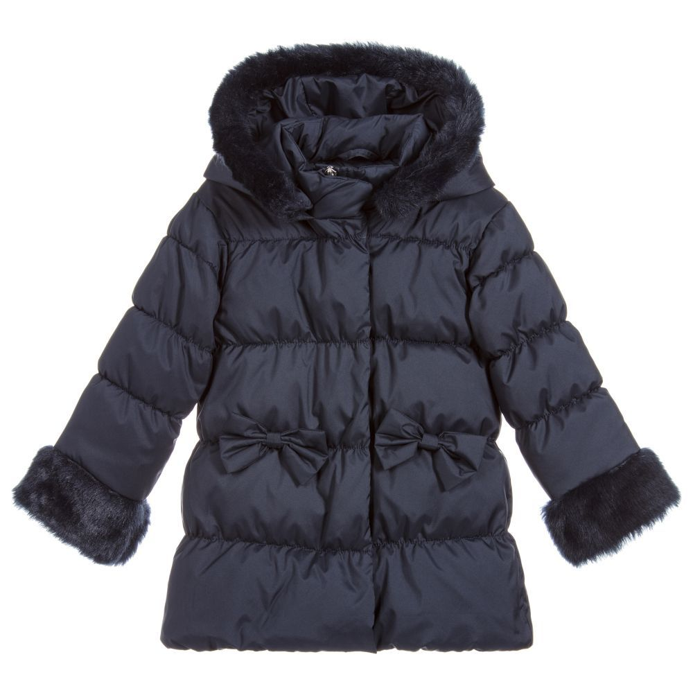 Girls Navy Blue Puffer Coat For Girl By Everything Must Change Discover More Beautiful Designer Coats Jackets For Kids Online Criancas [ 1000 x 1000 Pixel ]