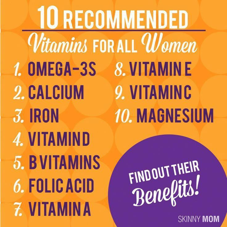 The Top 10 Recommended Vitamins for All Women  | Skinny Mom | Where Moms Get The Skinny On Healthy L...