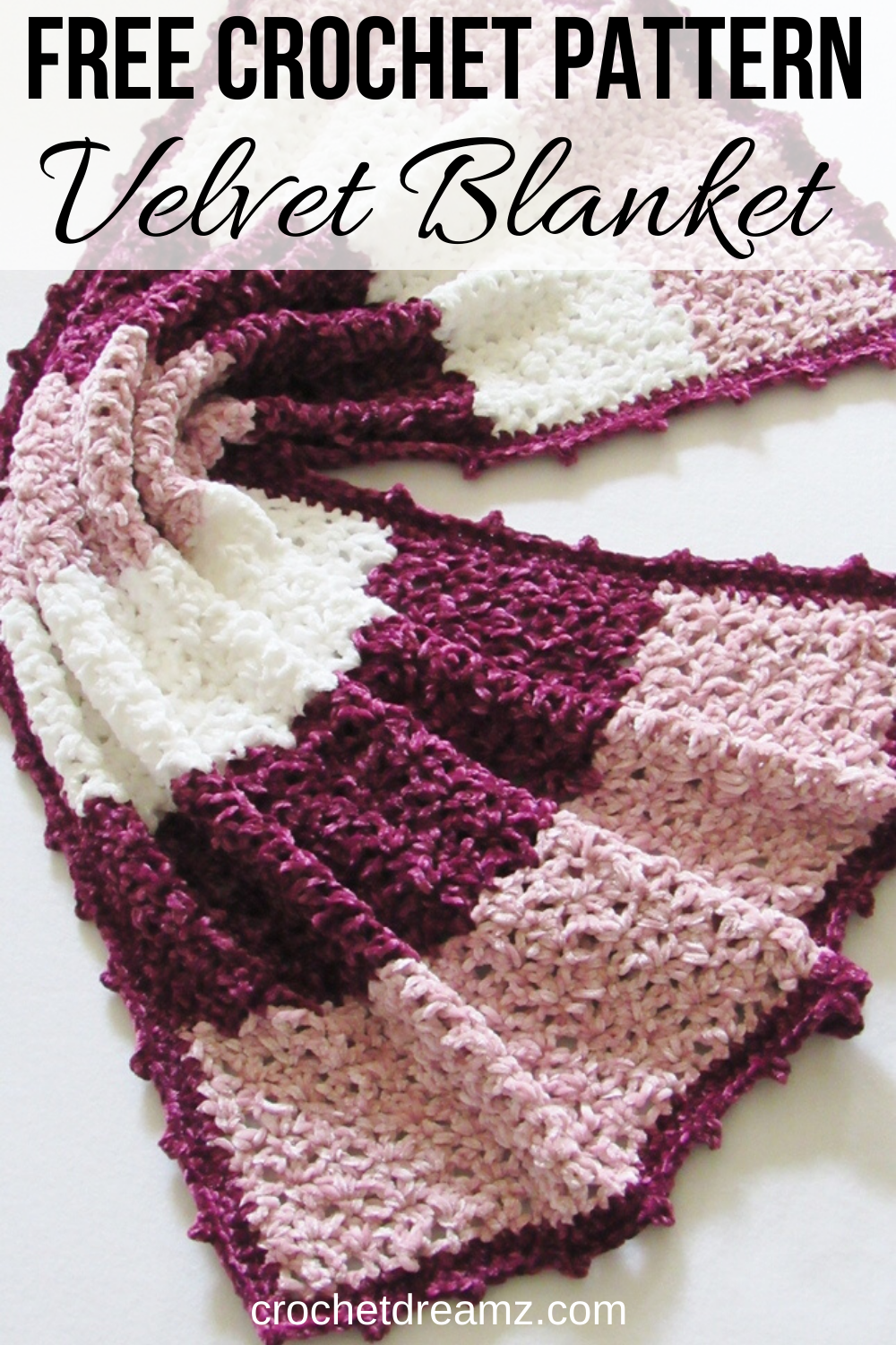 Easy Crochet Blanket Pattern (Velvet Yarn)