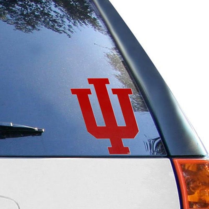 Indiana hoosiers red auto vinyl decal