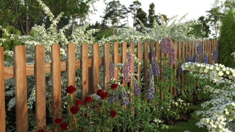 Vallas de madera y vallas metálicas para el jardín garden