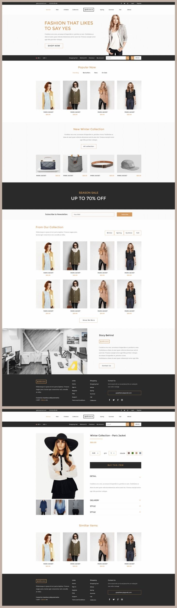 Gabooo Template is a neat and elegant ready-made solution for ...