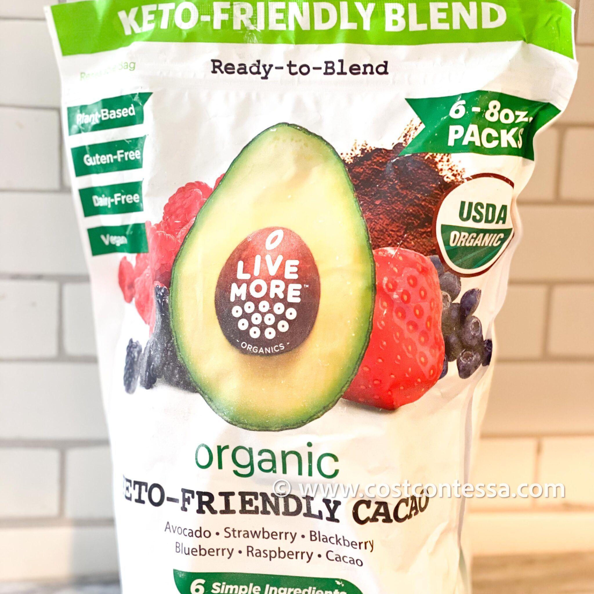 Livemore organics ketofriendly smoothies costco