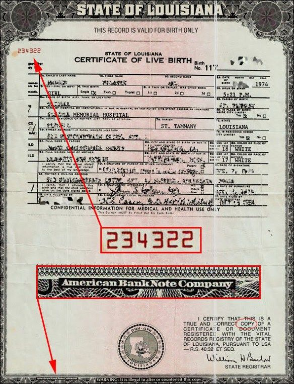 Your Birth Certificate Was Made Into A Bondits Worth Billions