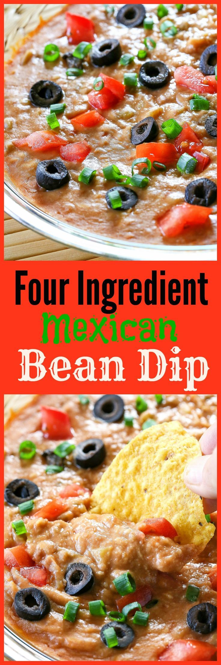 Four Ingredient Bean Dip - way too easy to make for how good it is.   The Girl Who Ate Everything