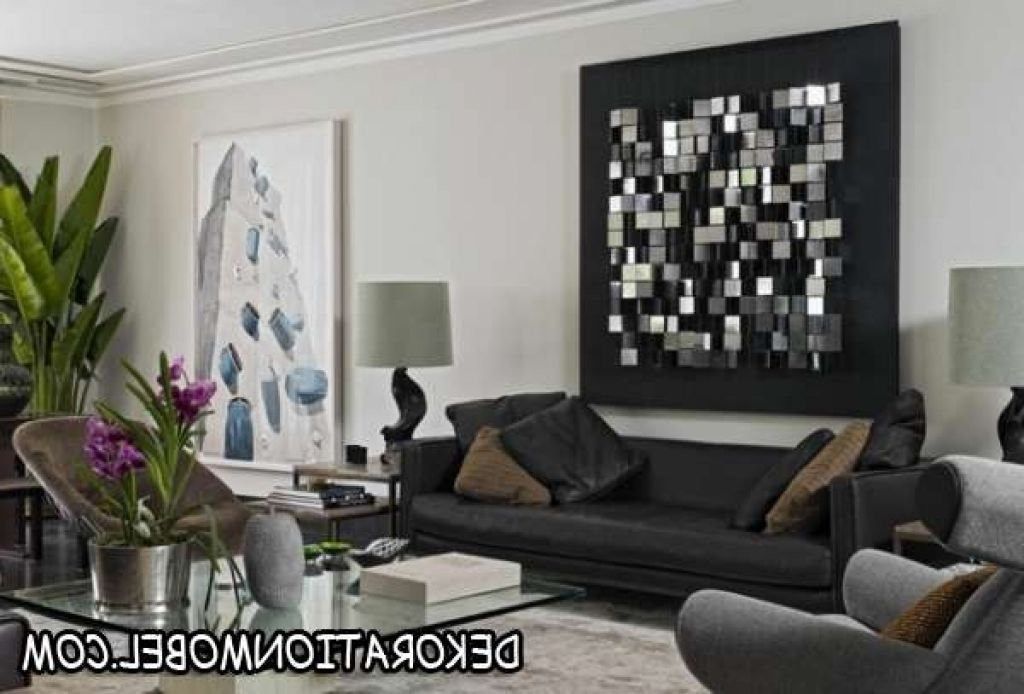 moderne kunst wohnzimmer wohnzimmer wohnideen wandgestaltung metall ...
