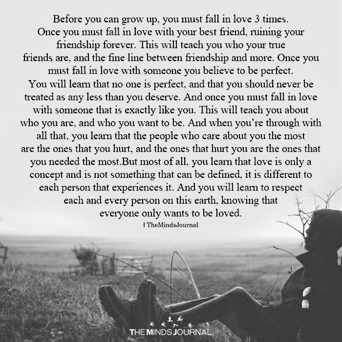 Before You Can Grow Up, You Must Fall in Love 3 Times